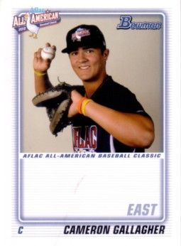 Cameron (Cam) Gallagher 2010 AFLAC Bowman Rookie Card