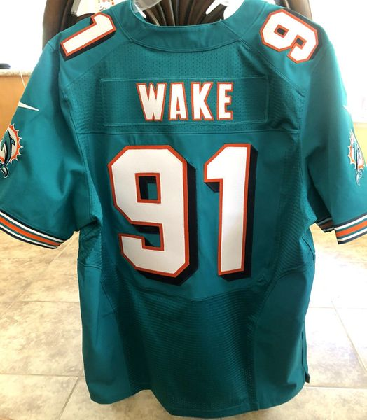 Cameron Wake Miami Dolphins 2012 authentic Nike Elite game model stitched jersey NEW