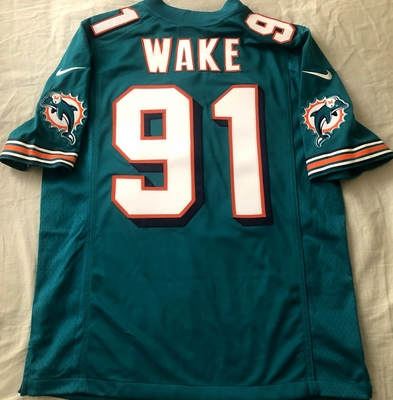 Cameron Wake 2012 Miami Dolphins authentic Nike stitched aqua jersey NEW