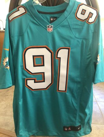 Cameron Wake Miami Dolphins 2013 to 2017 authentic Nike stitched aqua jersey NEW