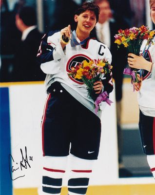 Cammi Granato autographed 1998 USA Women's Hockey Team gold medal 8x10 photo