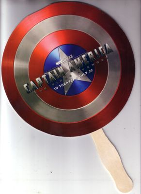 Captain America movie 2011 San Diego Comic-Con promo shield fan