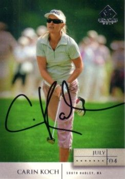 Carin Koch autographed 2004 SP Signature golf card
