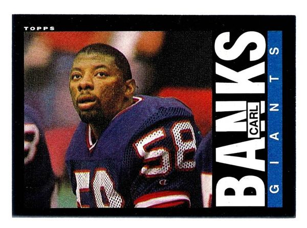 Carl Banks New York Giants 1985 Topps Rookie Card #111
