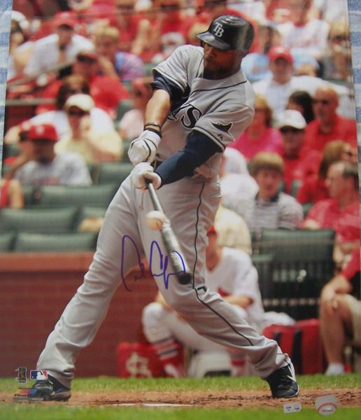 Carl Crawford autographed Tampa Bay Rays 16x20 poster size photo (MLB authenticated)
