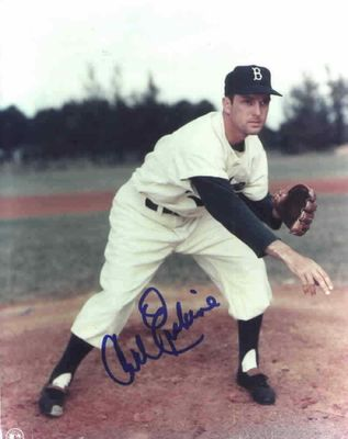 Carl Erskine autographed Brooklyn Dodgers 8x10 photo