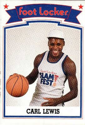 Carl Lewis 1989 Foot Locker Slam Fest card