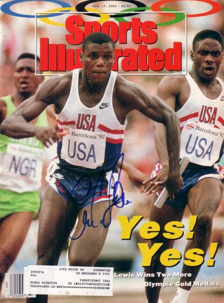 Carl Lewis autographed 1992 Olympics Sports Illustrated