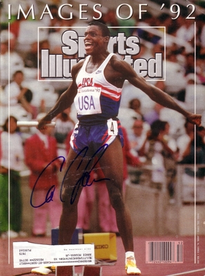 Carl Lewis autographed Images of '92 Sports Illustrated (1992 Olympics cover)