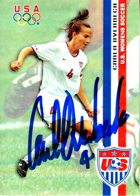 Carla Overbeck autographed 2000 U.S. Olympic Women's Soccer Team Roox card