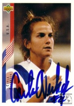 Carla Overbeck autographed US Soccer 1994 Upper Deck Rookie Card