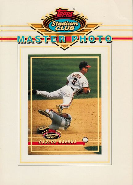 Carlos Baerga Cleveland Indians 1993 Stadium Club Master Photo 5x7 card