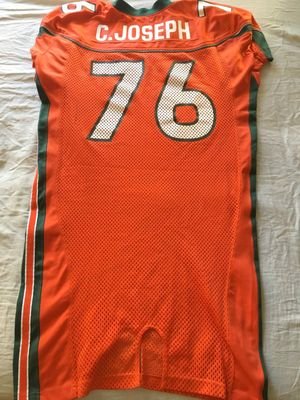 Carlos Joseph Miami Hurricanes authentic Nike 2001 2002 or 2003 game worn orange jersey