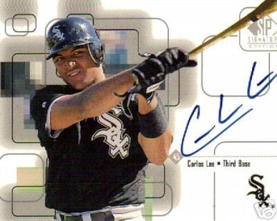 Carlos Lee certified autograph Chicago White Sox 1999 SP Signature card
