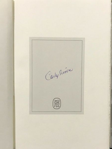 Carly Simon autographed Touched by the Sun hardcover first edition book