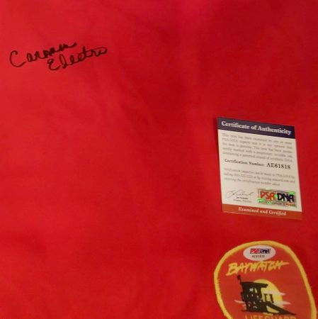 Carmen Electra autographed red Baywatch Lifeguard swimsuit (PSA/DNA)