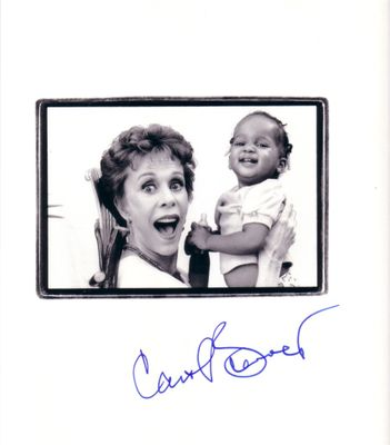 Carol Burnett autographed 10x10 book photo