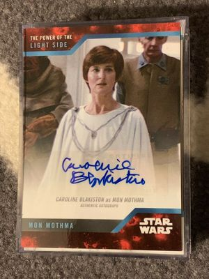 Caroline Blakiston (Mon Mothma) 2019 Topps Star Wars Power of the Light Side certified autograph card