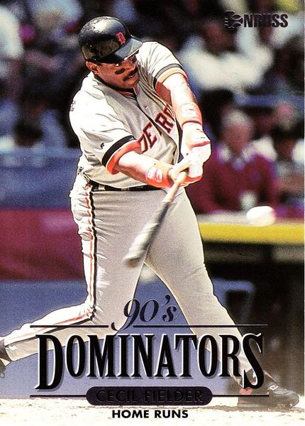 Cecil Fielder Detroit Tigers 1994 Donruss Dominators jumbo insert card #/10000