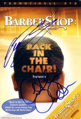 Cedric the Entertainer and Anthony Anderson autographed Barbershop movie promo DVD