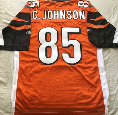 Chad Johnson Cincinnati Bengals authentic Reebok double stitched orange size LARGE jersey NEW