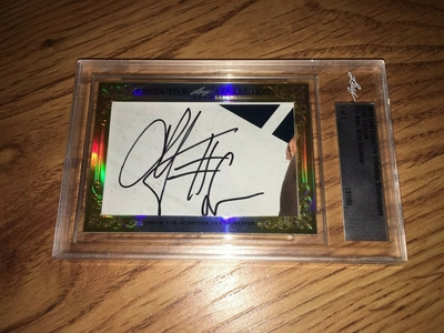 Chad Johnson (Ochocinco) 2015 Leaf Masterpiece Cut Signature certified autograph card 1/1 JSA