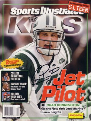 Chad Pennington autographed New York Jets Sports Illustrated for Kids magazine
