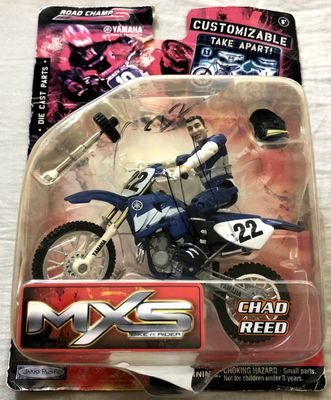 Chad Reed autographed 2005 Road Champs MXS action figure motocross or supercross toy (damaged)