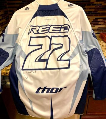 Chad Reed autographed 2008 Thor Yamaha motocross or supercross jersey