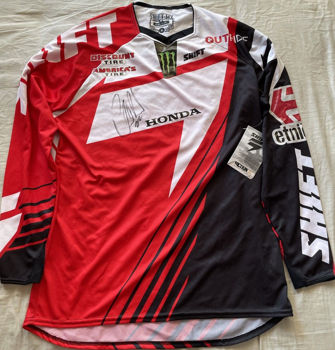 Chad Reed autographed Honda Shift Two Two Racing motocross or supercross jersey (JSA)