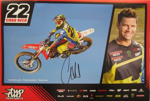 Chad Reed autographed Shift Two Two motocross or supercross promotional poster