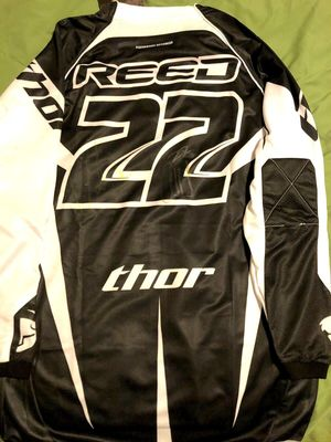 Chad Reed autographed Thor Core black motocross or supercross jersey