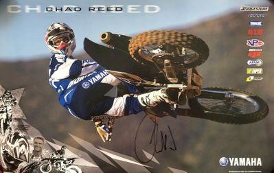 Chad Reed autographed motocross or supercross 11x17 Yamaha Racing poster