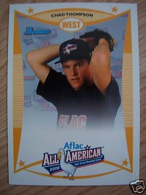 Chad Thompson 2008 AFLAC Bowman Rookie Card