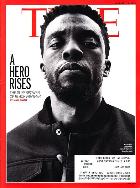 Chadwick Boseman Black Panther 2018 Time magazine