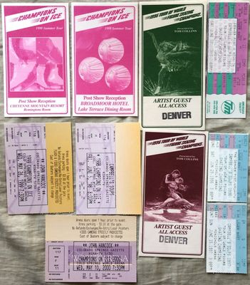 Champions on Ice figure skating tour lot of 10 passes and tickets from 1995 through 2000