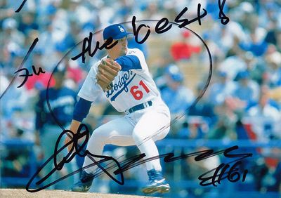 Chan Ho Park autographed Los Angeles Dodgers 5x7 photo inscribed All the best!