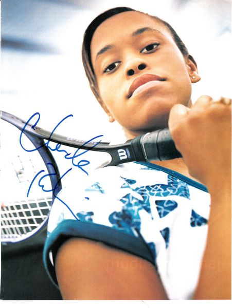 Chanda Rubin autographed tennis magazine full page photo