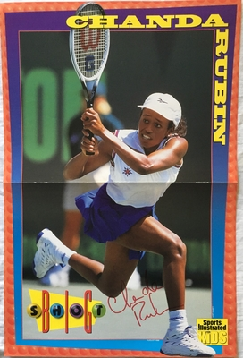 Chanda Rubin autographed 1996 Sports Illustrated for Kids mini poster