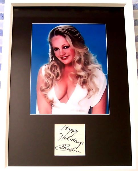 Charlene Tilton autograph matted and framed with sexy 8x10 photo inscribed Happy Holidays