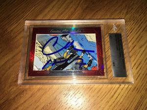 Charles Barkley and Julius Erving 2016 Leaf Masterpiece Cut Signature certified autograph card 1/1 JSA