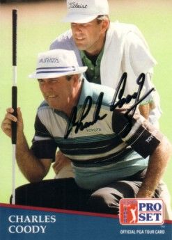 Charles Coody autographed 1991 Pro Set golf card
