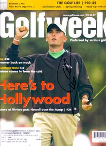 Charles Howell autographed 2007 Golfweek magazine