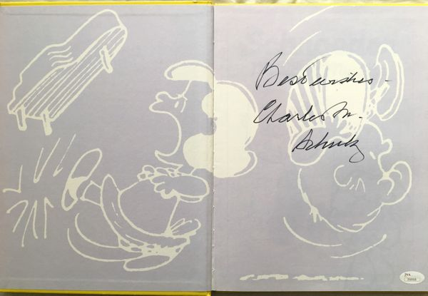 Charles Schulz autographed Peanuts Schroeder hardcover book inscribed Best Wishes (JSA)
