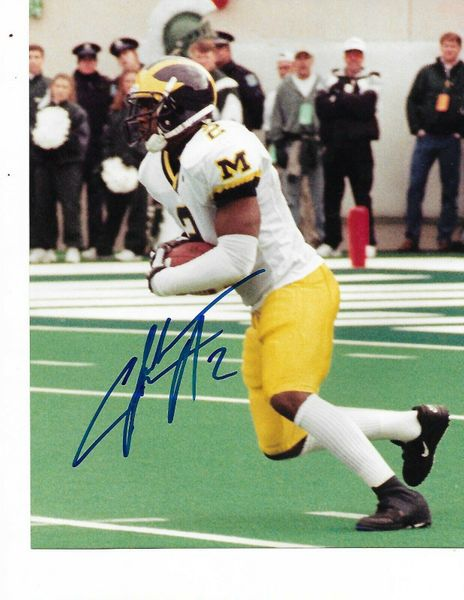Charles Woodson autographed Michigan Wolverines 8x10 photo