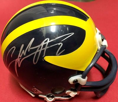 Charles Woodson autographed Michigan Wolverines mini helmet