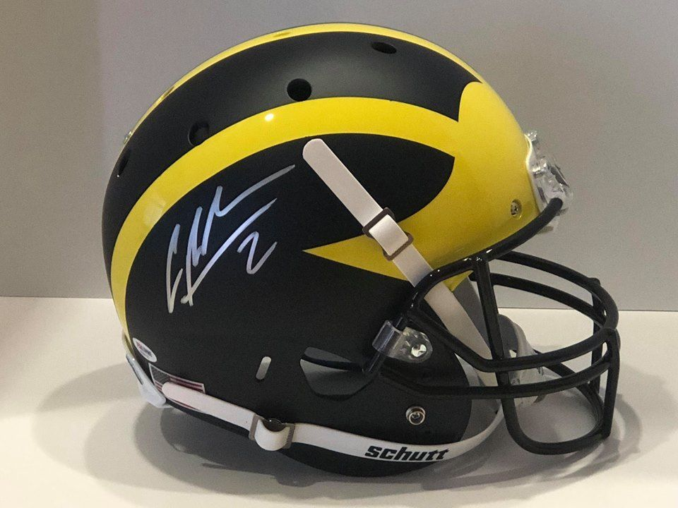 new concept ff10b 3eada Charles Woodson autographed Michigan Wolverines Schutt full ...