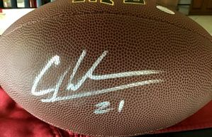 Charles Woodson autographed Wilson NFL replica football (GTSM)