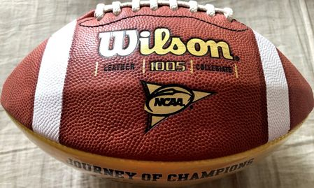 Charles Woodson Brian Griese Steve Hutchinson autographed Michigan Wolverines 1997 National Champions football JSA