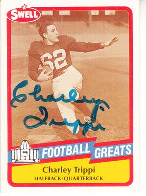 Charley Trippi autographed 1989 Swell Football Greats Pro Football Hall of Fame card
